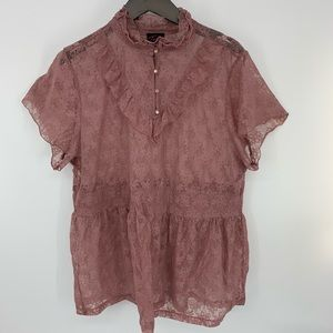 Torrid Dusty Pink Lace Top. Sz. 3X